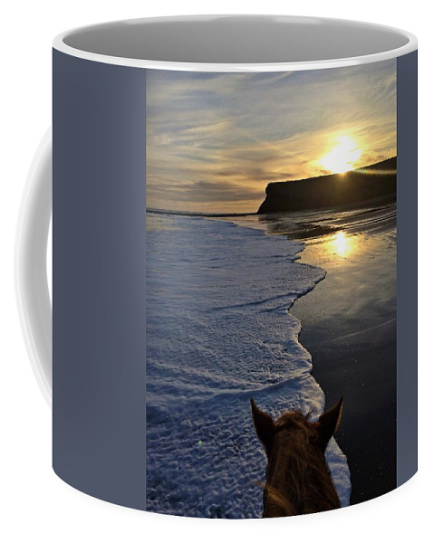 Landscape Coffee Mug featuring the photograph Dylan In The Seafoam by JoJo Brown