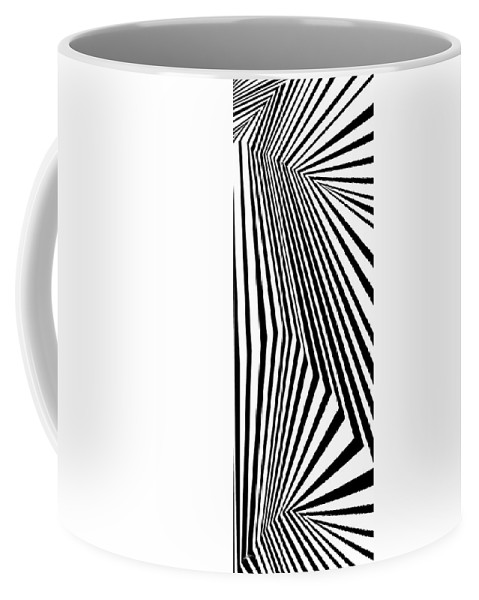 Dynamic Black And White Coffee Mug featuring the painting Dyno by Douglas Christian Larsen