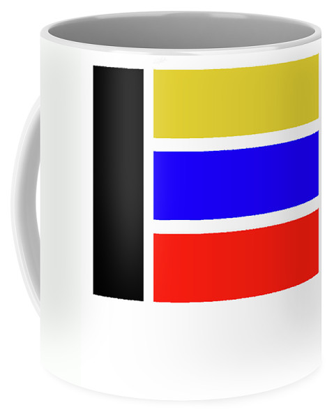 Primary Colors Coffee Mug featuring the painting E by Charles Stuart