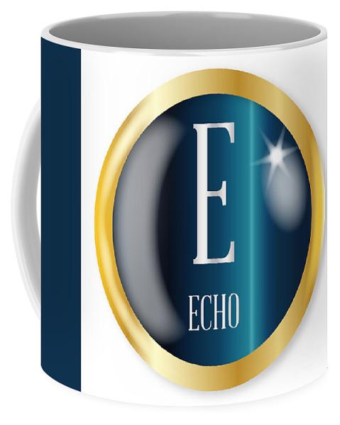Echo Coffee Mug featuring the digital art E For Echo by Bigalbaloo Stock