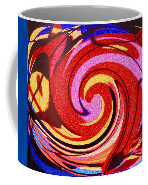 Eagle Coffee Mug featuring the digital art Eagle And Bear by Ian MacDonald