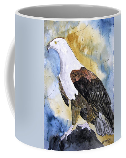 Realistic Coffee Mug featuring the painting Eagle by Derek Mccrea