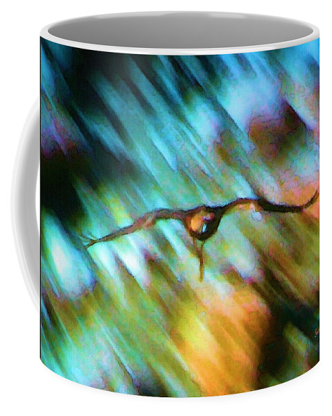 Eagle Coffee Mug featuring the painting Eagle In Flight by Susanna Katherine