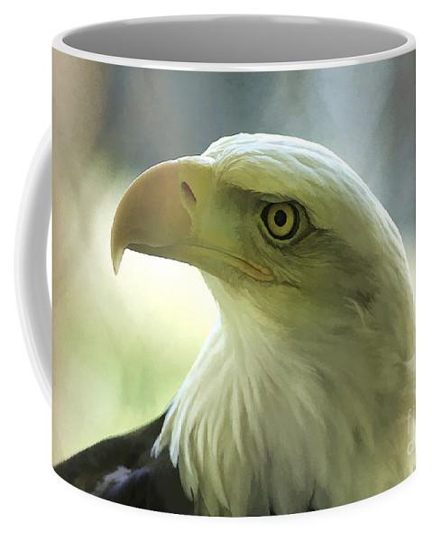 Eagle Coffee Mug featuring the photograph Eagle Majesty by Deborah Benoit