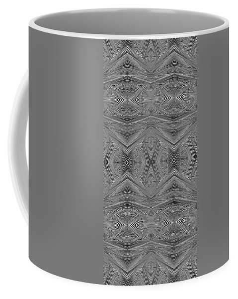 Dynamic Black And White Coffee Mug featuring the painting Earliest Morning by Douglas Christian Larsen
