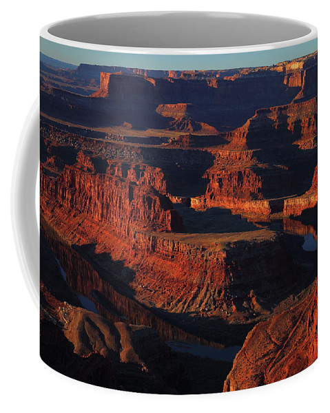 Deadhorse Coffee Mug featuring the photograph Early Morning Light Hits Dead Horse Point State Park by Jetson Nguyen
