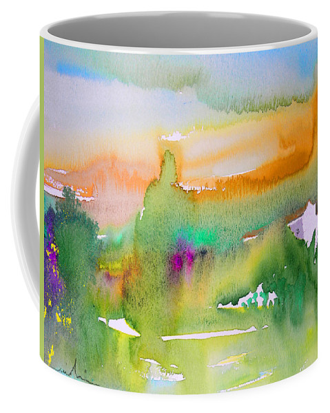 Landscape Coffee Mug featuring the painting Early Afternoon 05 by Miki De Goodaboom