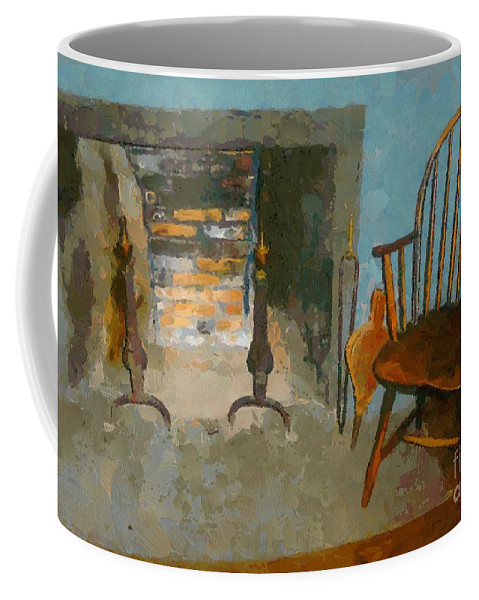 Americana Coffee Mug featuring the painting Early American Contemporary by RC DeWinter