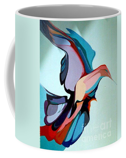 Birds Coffee Mug featuring the painting Early Bird 10 by Marlene Burns