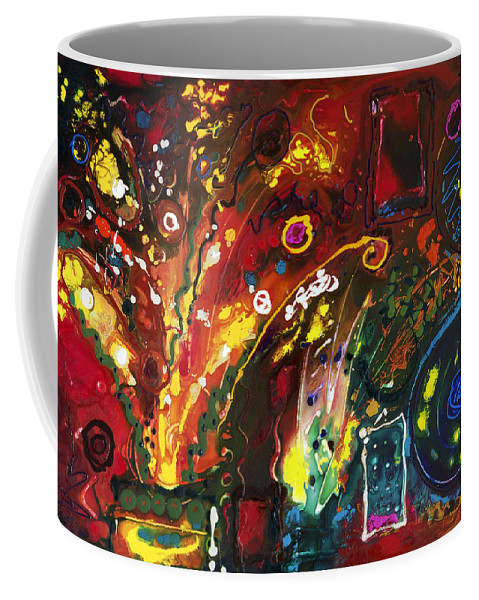 Floral Coffee Mug featuring the painting Early Bouquet by Sally Trace