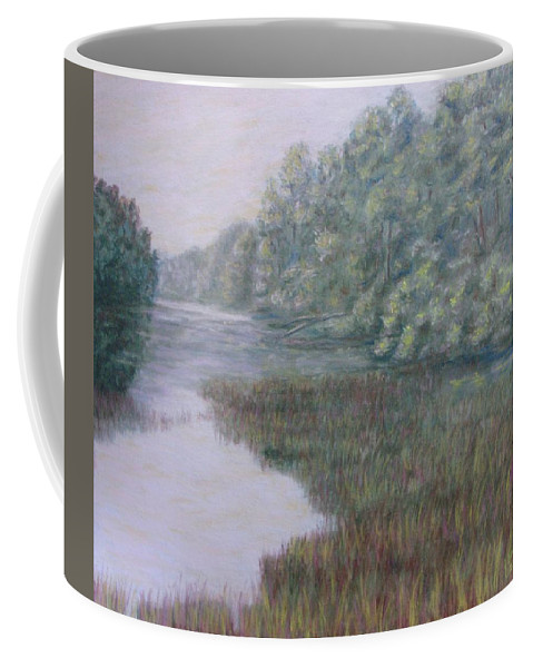 Pastel Coffee Mug featuring the pastel Early Fall Serenity by Joann Renner