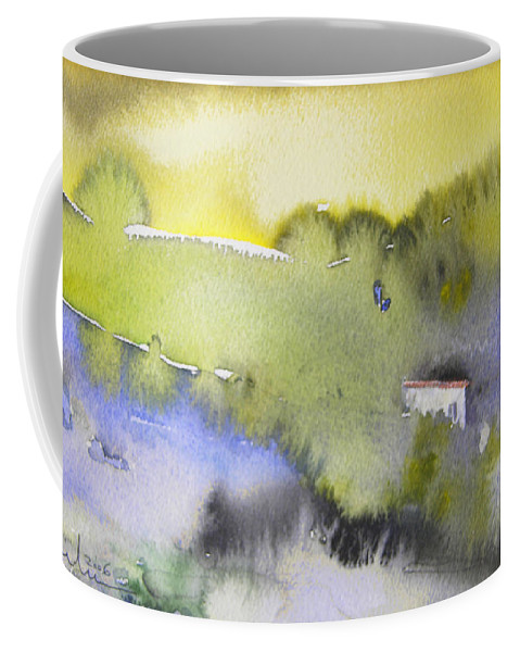 Watercolour Coffee Mug featuring the painting Early Morning 04 by Miki De Goodaboom