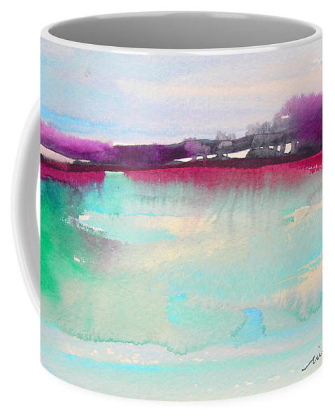 Watercolour Coffee Mug featuring the painting Early Morning 07 by Miki De Goodaboom