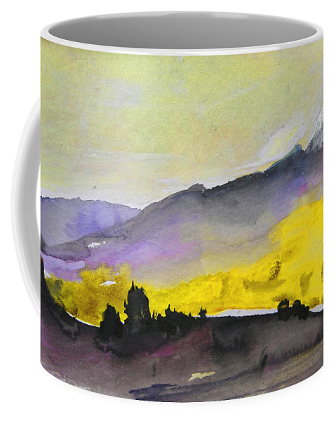 Watercolour Coffee Mug featuring the painting Early Morning 08 by Miki De Goodaboom