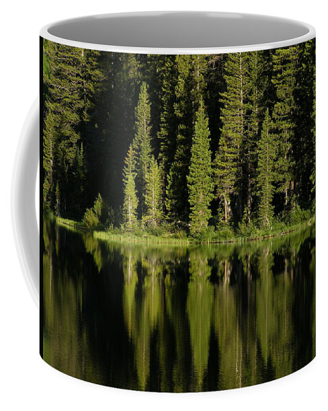 Lake Coffee Mug featuring the photograph Early Morning At Barstow by DeeLon Merritt