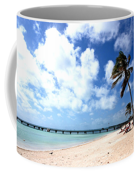 Beach Scene Coffee Mug featuring the photograph Early Morning At The Beach by Susanne Van Hulst