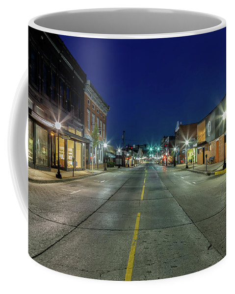 Blue Hour Coffee Mug featuring the photograph Early Morning Farmville by Tim Wilson