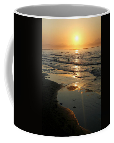 Water Coffee Mug featuring the photograph Early Morning Fishing by Marilyn Hunt