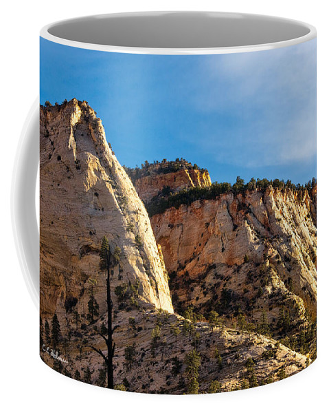 Zion Coffee Mug featuring the photograph Early Morning In Zion Canyon by Christopher Holmes