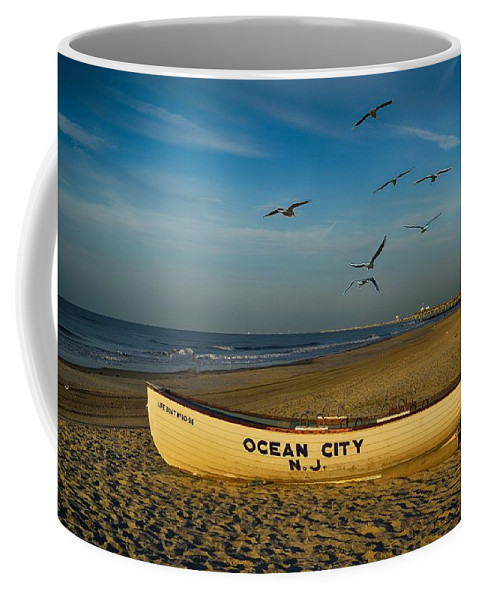Early Morning Coffee Mug featuring the photograph Early Morning Ocean City Nj by James DeFazio