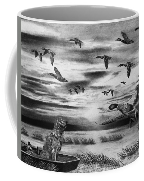 Early Morning Coffee Mug featuring the drawing Early Morning by Peter Piatt