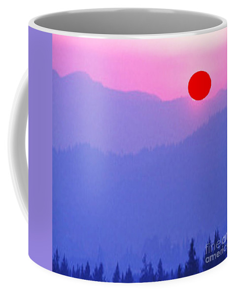 Coffee Mug featuring the painting Early Morning Sunrise by Belinda Threeths