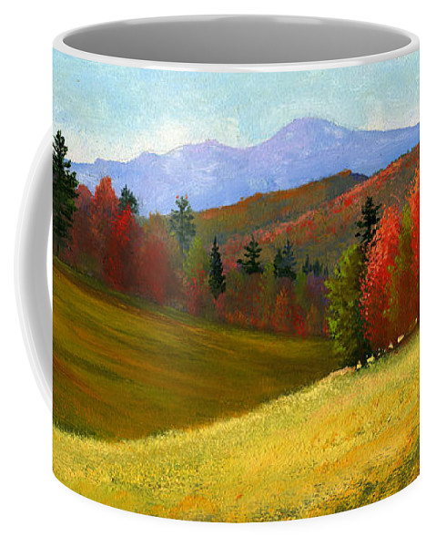 Landscape Coffee Mug featuring the painting Early October by Frank Wilson