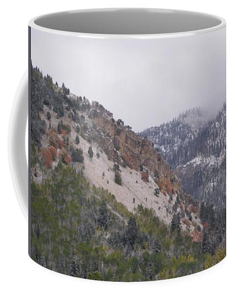 Mountain Coffee Mug featuring the photograph Early Snows by DeeLon Merritt