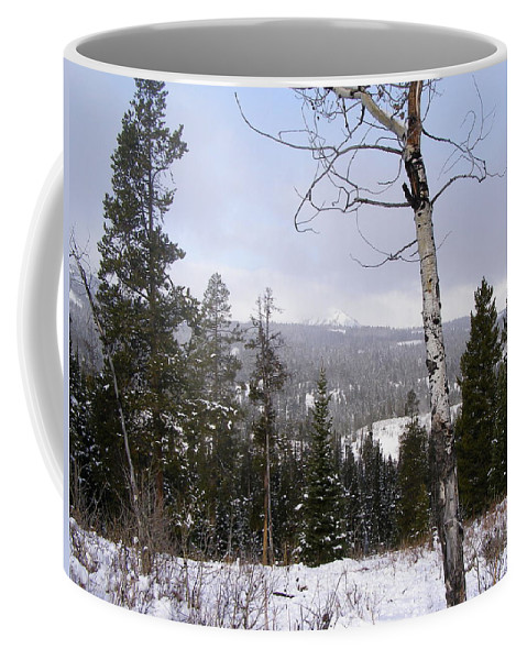 Rockies Coffee Mug featuring the photograph Early Snows In The Rockies by DeeLon Merritt