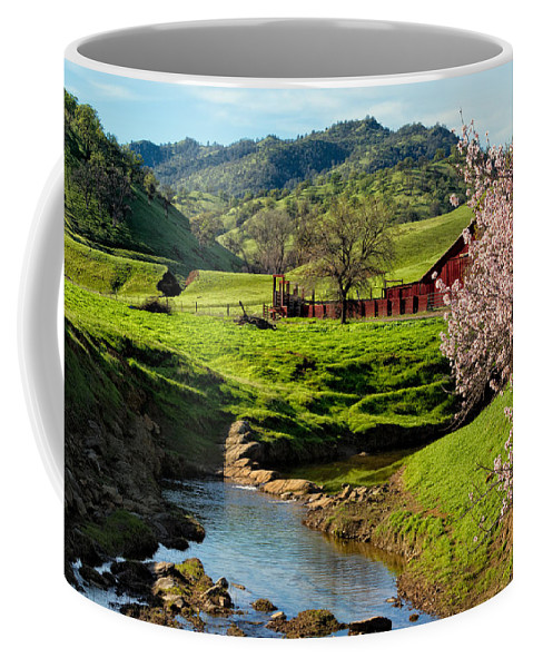 Farm Coffee Mug featuring the photograph Early Spring In The Valley by Kathleen Bishop