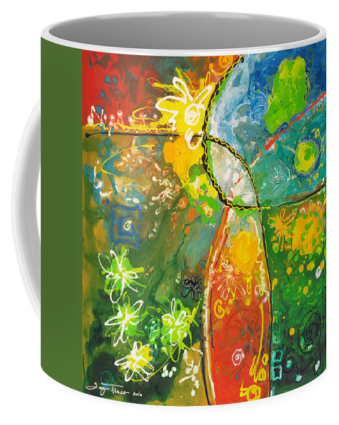 Floral Coffee Mug featuring the painting Early Spring by Sally Trace