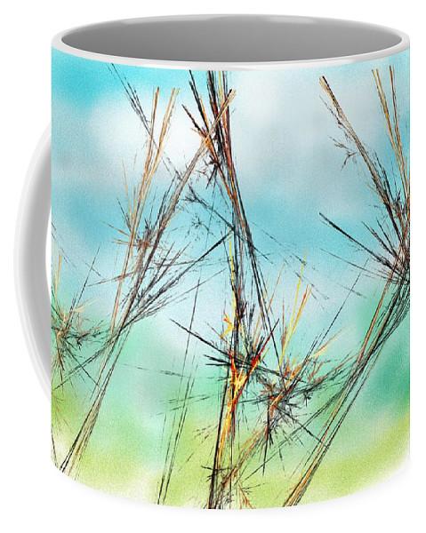Digital Painting Coffee Mug featuring the digital art Early Spring Twigs by David Lane