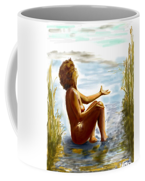 Lady Coffee Mug featuring the digital art Early Summer In Bavaria by Helmut Rottler