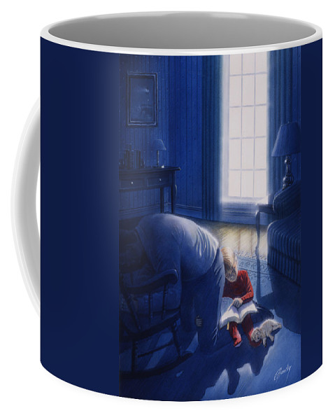 Devotion Coffee Mug featuring the painting Early Will I Seek Thee by Cliff Hawley