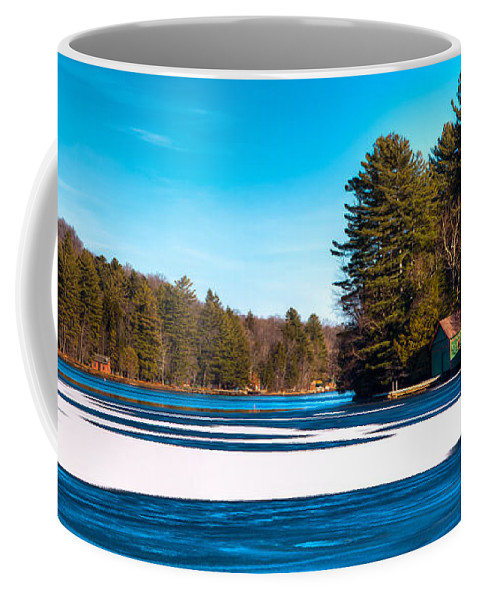 Early Winter On Old Forge Pond Coffee Mug featuring the photograph Early Winter On Old Forge Pond by David Patterson