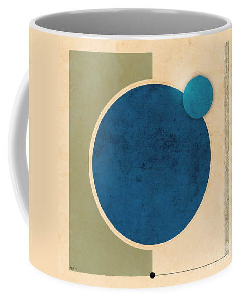 Earth Coffee Mug featuring the digital art Earth And Moon Graphic by Phil Perkins