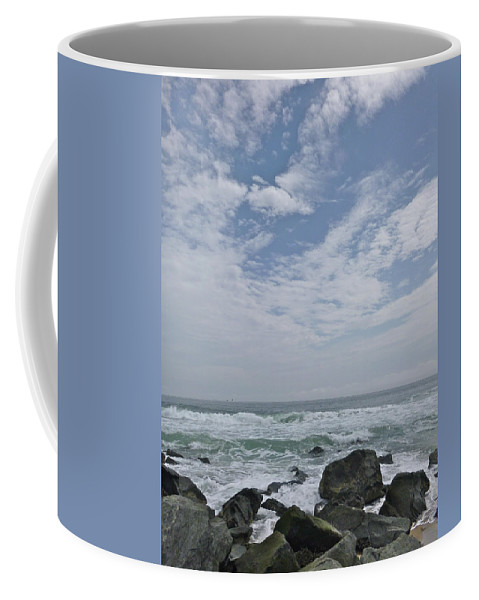 April Coffee Mug featuring the photograph Earth And Sea And Sky In April by Ellen Paull
