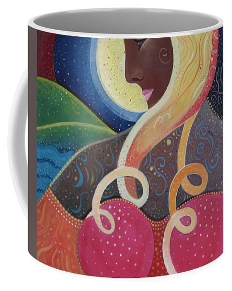 Angel Coffee Mug featuring the painting Earth Angel by Helena Tiainen