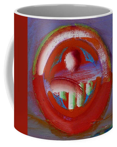 Love Coffee Mug featuring the painting Earth Button by Charles Stuart
