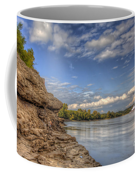 2015 Coffee Mug featuring the photograph Earth, Sky And Water by Larry Braun