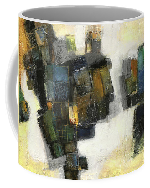 Sketching Coffee Mug featuring the painting Lemon And Tiles by Behzad Sohrabi