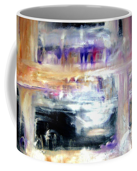 Glow Coffee Mug featuring the painting Earthen Vessel by Sandy Ryan