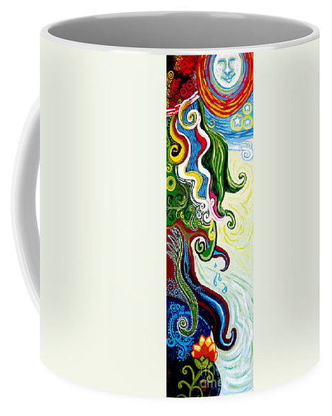 Mother Earth Coffee Mug featuring the painting Earths Tears by Genevieve Esson