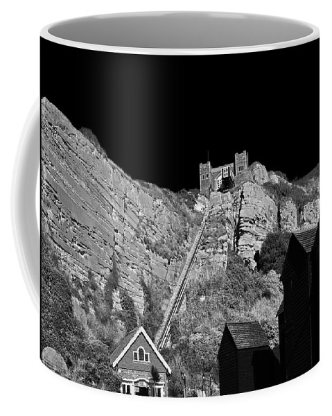 Hastings Coffee Mug featuring the photograph East Hill Cliff Railway - Hastings by Bel Menpes