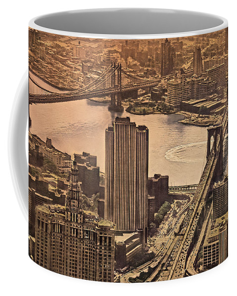 East River Coffee Mug featuring the photograph East River View by Hanny Heim