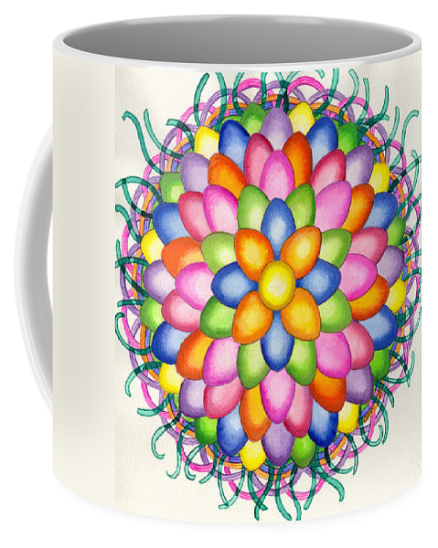 Easter Coffee Mug featuring the painting Easter Design by Catherine G McElroy