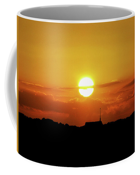 Sunset Coffee Mug featuring the photograph Easter Evening by Adele Moscaritolo