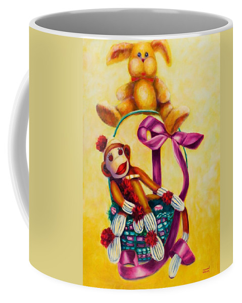 Easter Coffee Mug featuring the painting Easter Made Of Sockies by Shannon Grissom