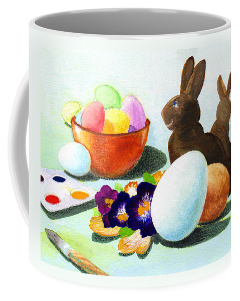 Easter Coffee Mug featuring the painting Easter Morning Still Life by Scott Kirkman