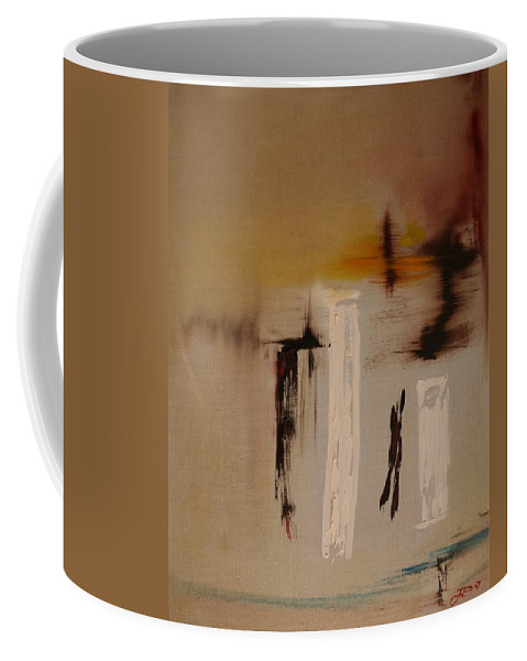 Abstract Coffee Mug featuring the painting Easy by Jack Diamond